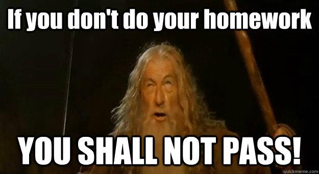 Homework Meme if you don't do your homework you shall