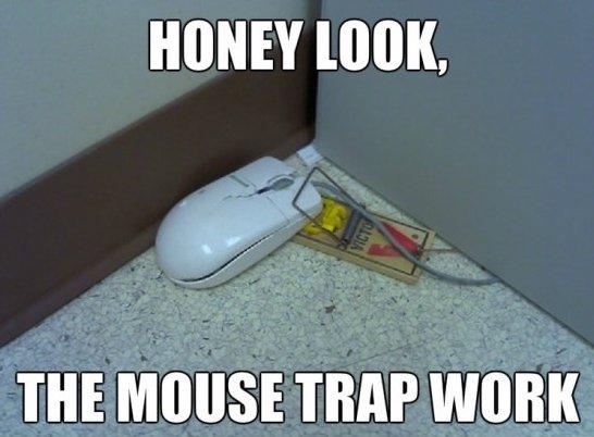 Honey look the mouse trap work Cop Meme