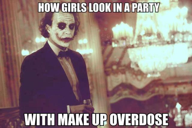How girls look in a party with make up overdose Dress Meme