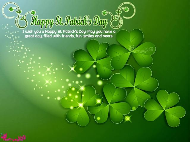 I Wish You A Happy St. Patrick's Day Great Day Wishes Message