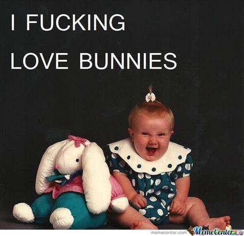 I fucking love bunnies Memes