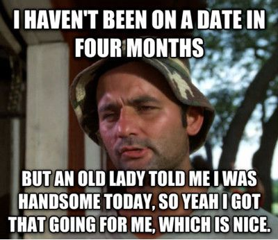 I haven't been on a date in four months but an old Dating Memes