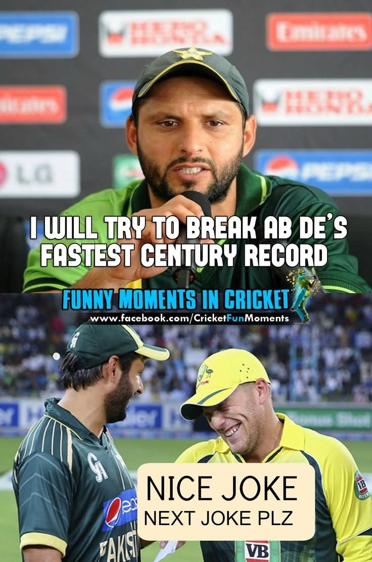 I will try to break ab de's faster century record Cricket Memes