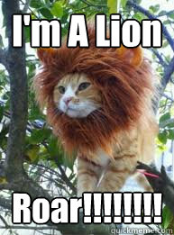 I'm a lion roar Lion Memes
