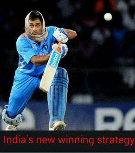 India's new winning strategy Cricket Meme