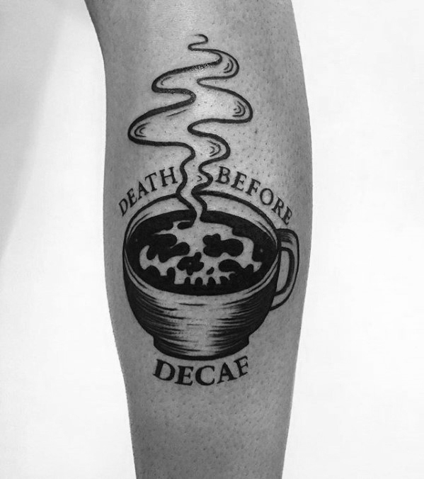 Innovative Coffee Cup Tattoos On Arm for For Guys