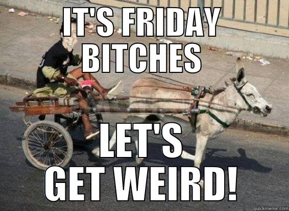 Its friday bitches lets get weird Donkey Meme