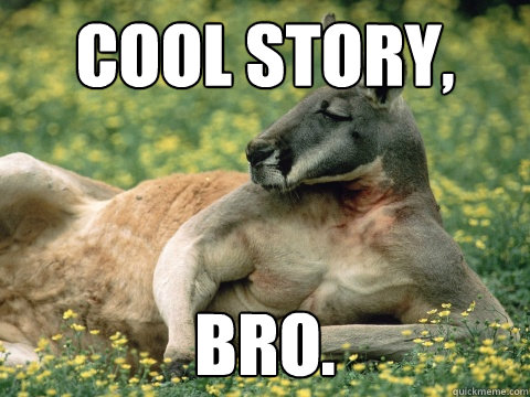 Kangaroo Memes cool story bro