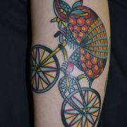 Latest Armadillo Tattoo On Leg for Girls