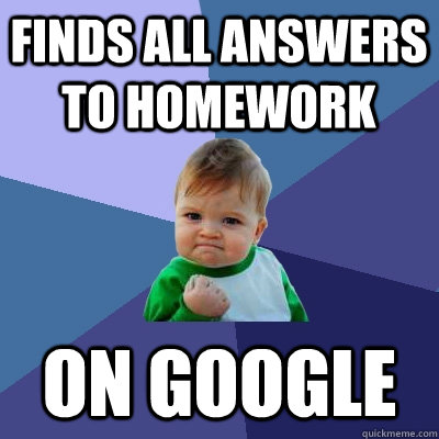 Laugh Meme finds all answers to homework on google