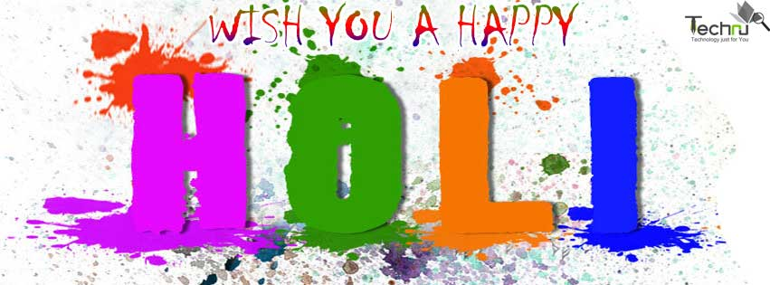Let's Play Holi Wishes Message Image
