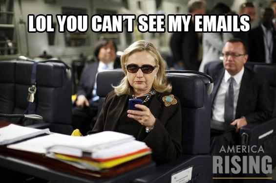Lol you can't see my emals Hillary Clinton Meme
