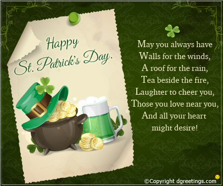Lovely St. Patrick's Day Greetings Message And Quotes
