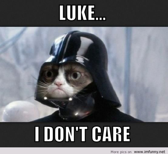 Luke i don't care Cool Meme