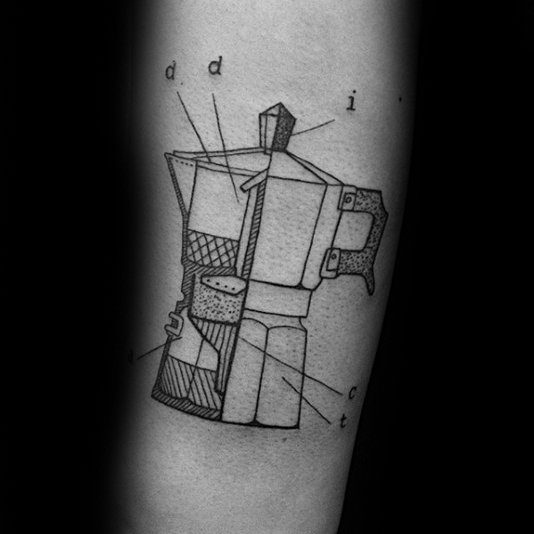 Marvelous Coffee Tattoo On Arm for Girls