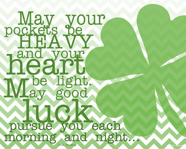 May Your Pockets Be Heavy And Your Heart Be Light St. Patrick's Day Wishes