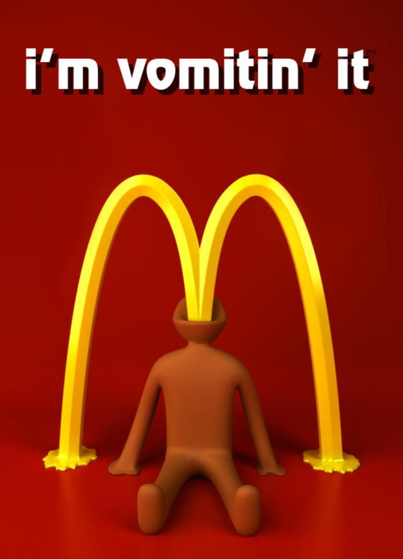 Mcdonalds Meme Im vomitin it