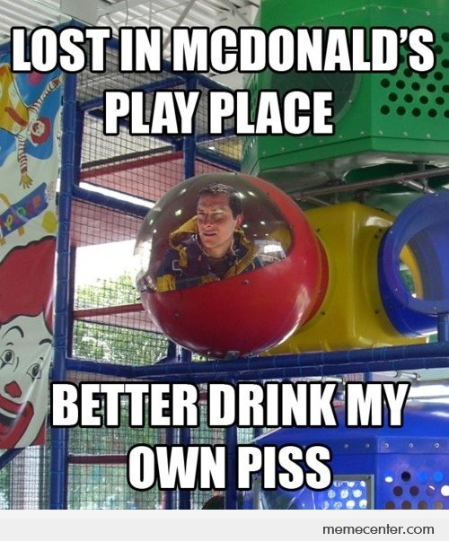 Mcdonalds Meme Lost in mcdonalds play place better drink my own