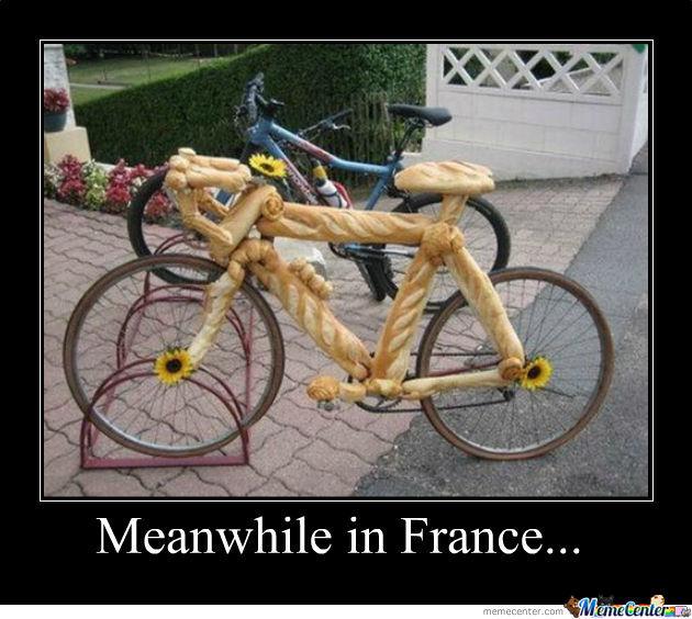 Meanwhile in france Bike Meme