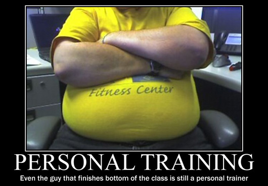 Muscle Meme Personal training even the guy that finishes bottom of the