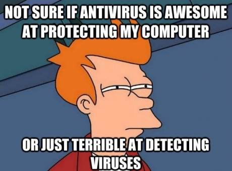 Not sure if antivirus is awesome at Computer Memes