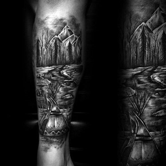 Realistic Camping Tattoos On arm For Tattoo fans