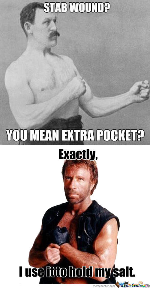 Stab wound you mean extra pocket exactly i use it Muscle Meme