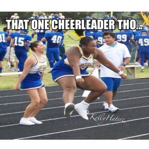 That one cheerleader the Cheerleading Meme