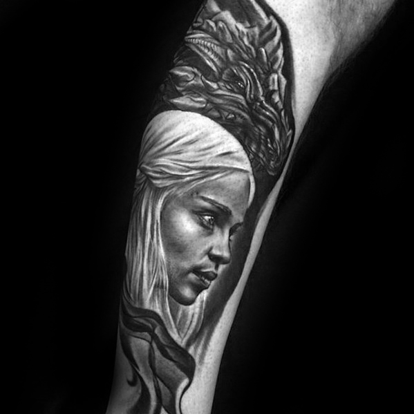 Traditional Game Of Thrones Tattoo On arm for Boy