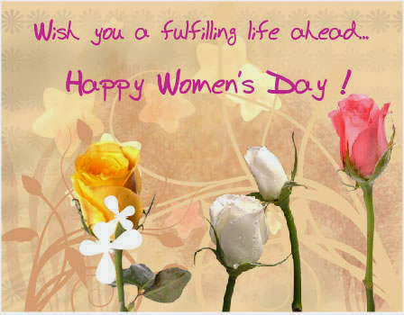 Wishing You Happy Women's Day Greetings E card Image