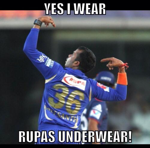 Yes i wear rupas underwear Cricket Meme