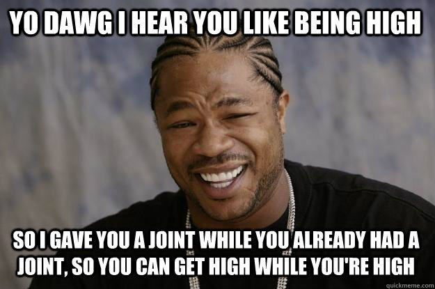 Yo dawg i hear you like being high so i gave High Meme