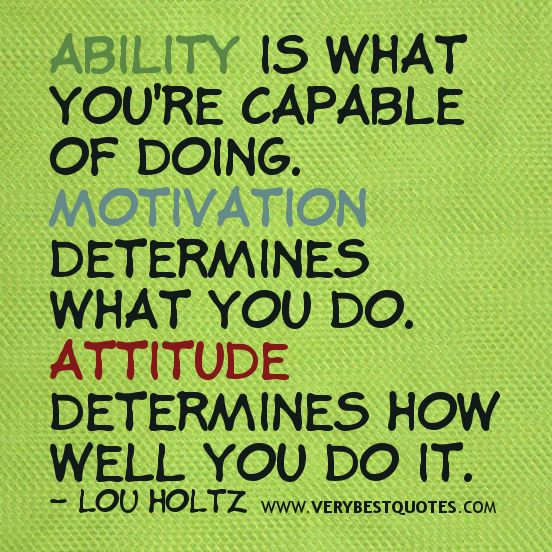 Ability Quotes Ability is what you're capable of doing