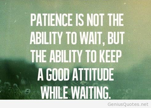 Ability Quotes Patience is not the ability to wait but the ability to keep a good