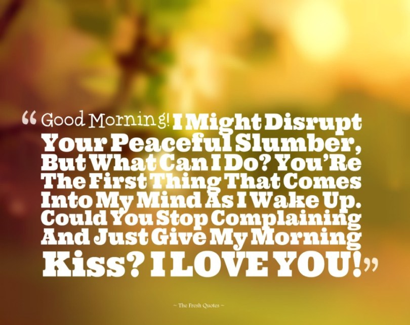 Adorable Good Morning Love Quotes