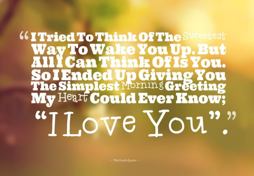 Attractive Good Morning Love Quotes