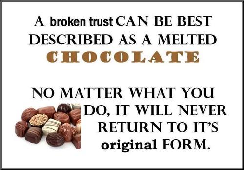 Broken Trust Quotes A broken trust can be best described as