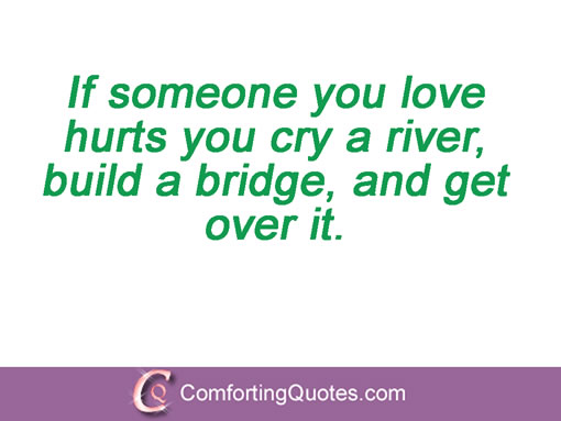 Broken Trust Quotes If someone you love hurts you cry a river build