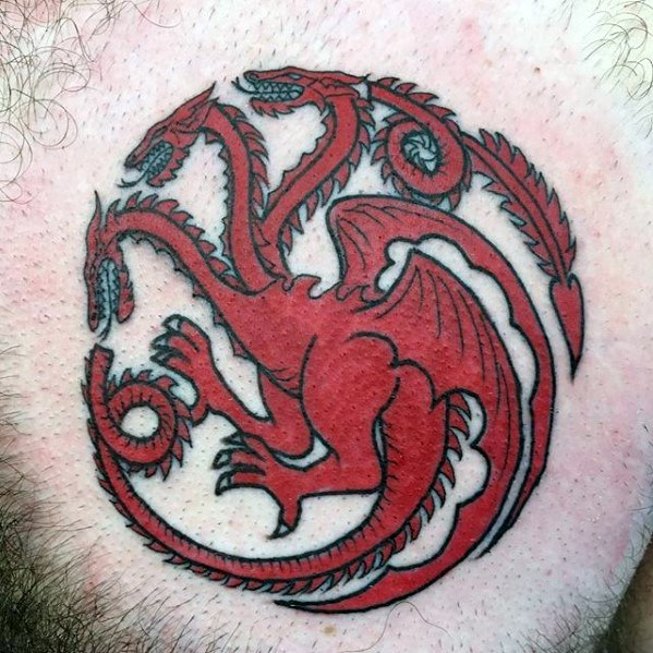 Cute Game Of Thrones Tattoos On Chest for boy
