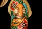 Diving Helmet Tattoo Idea