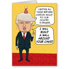 Donald Trump Birthday Meme i will build a wall around your cake