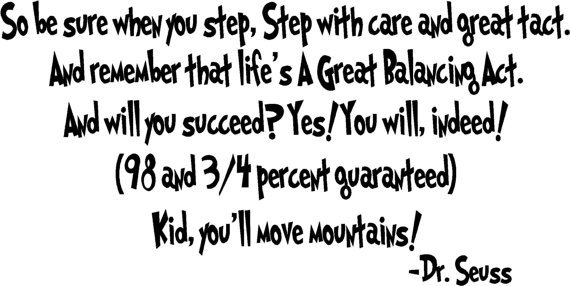 Dr Seuss Quotes So be sure when you step step with