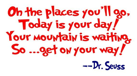 Dr Seuss Quotes on the places you'll go today is your