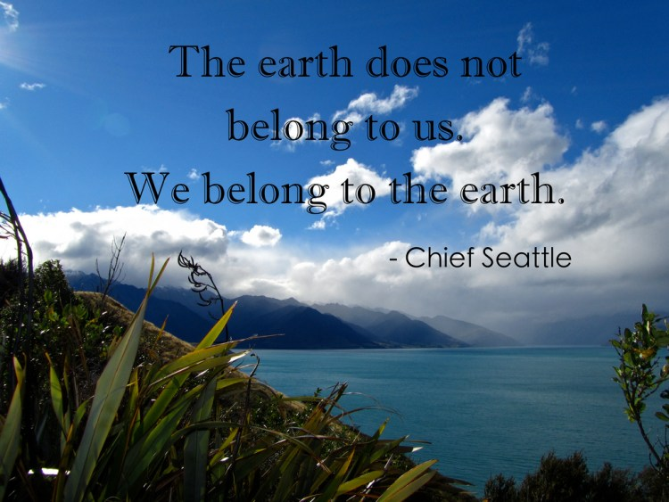 Earth Day Quotes The earth does not belong to us we belong to the