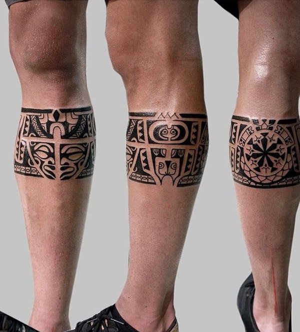 Fantastic Calf Tattoos On leg front side
