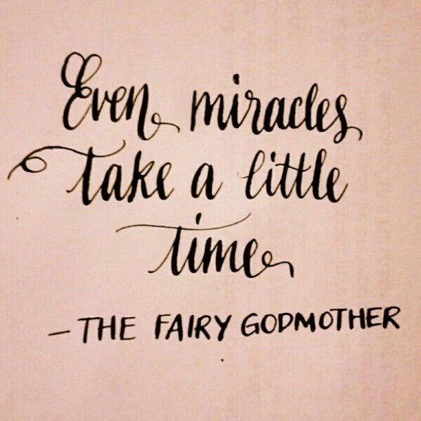 Godmother Quotes even miracles take a little time