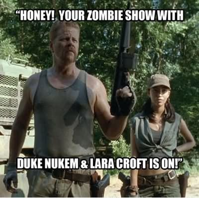 Honey your zombie show with duke Zombie Meme