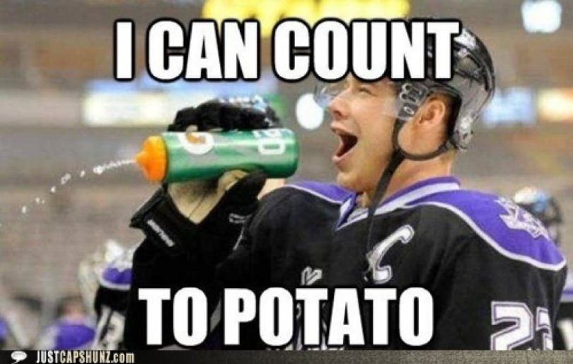 I can count to potato Sports Meme