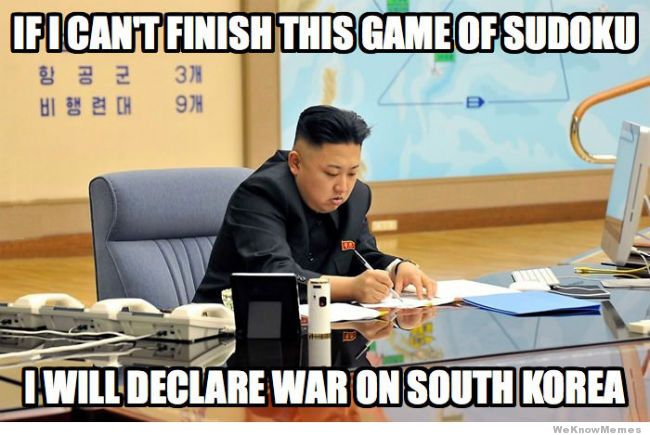 If i can't finish this game of sudoku War Memes