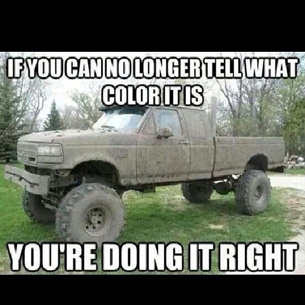 If you can no longer tell what color it is Truck Memes